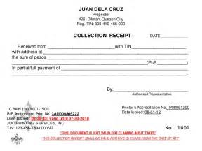 Collection Receipt Template Tax Forum With Real Estate Practitioners