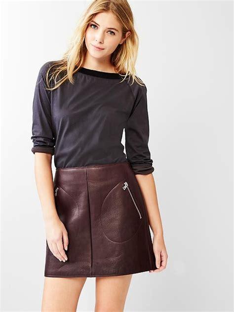 black leather skirts make a comeback
