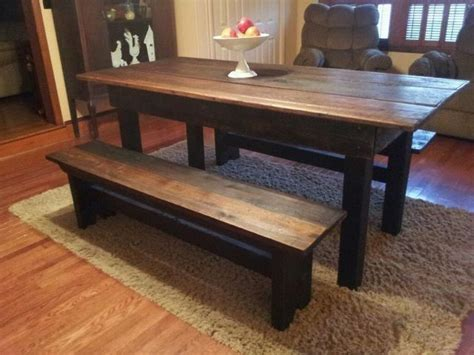 crafted reclaimed barnwood dining set by the