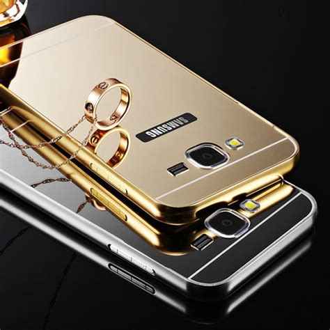 Samsung Galaxy J710 J7 2016 Luxury Mirror Bulat for samsung galaxy j1 j5 j7 2016 luxury high quality mirror aluminum metal frame ultra slim