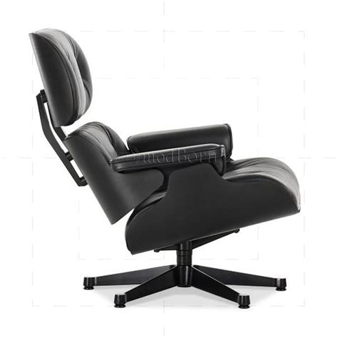black leather club chair and ottoman eames style lounge chair and ottoman black leather black wood