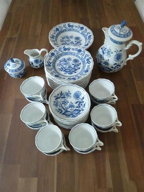 hutschenreuther alte dekore hutschenreuther blau zwiebelmuster kaffeeservice fuer 12