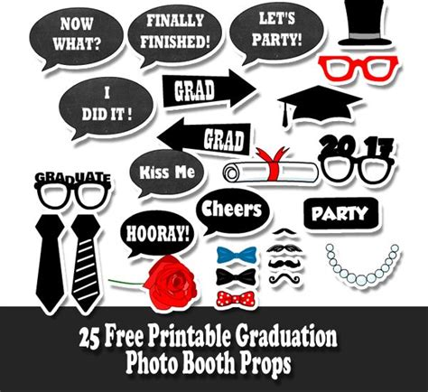 graduation photo booth props printable pdf free printable graduation photo booth props graduation