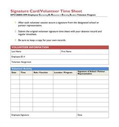 Volunteer Time Sheet Template by Sle Volunteer Timesheet Monthly Volunteer Timesheet