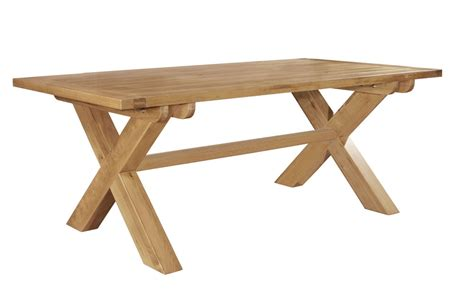 Crossed Leg Dining Table Chiltern Grand Oak Fixed Top Cross Leg Dining Table 163 553 61 Width 2100mm Depth 1050mm Height