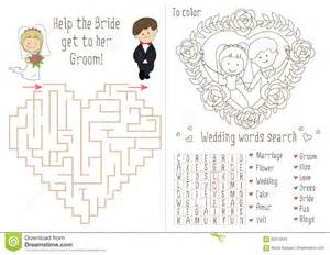Wedding Activity Book For Kids The Maze Heart Stock