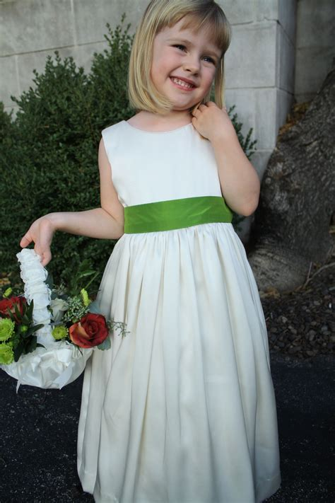 pattern flower girl dress ivory satin flower girl dress vogue 7819 sewing