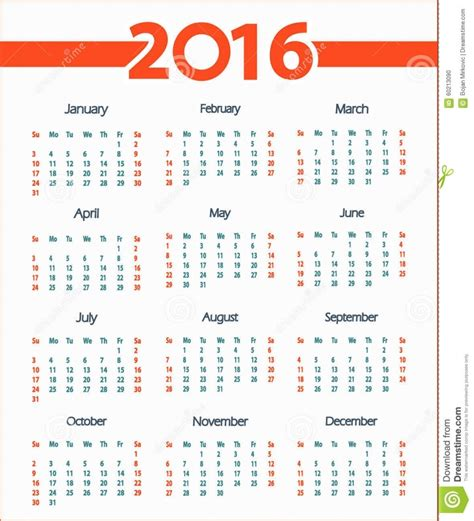 Calendã Em Semanas Calendario Por Semanas Semanas 2016 Calendar Printable 2017