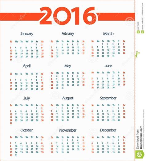 Calendario X Semanas Calendario Por Semanas Semanas 2016 Calendar Printable 2017