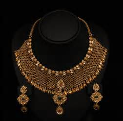 set of gold gold and jewellery designs beautiful antique bridal necklace sets from vummidi