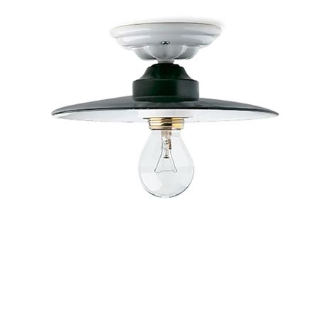 ceiling light enamel ceramic 119049