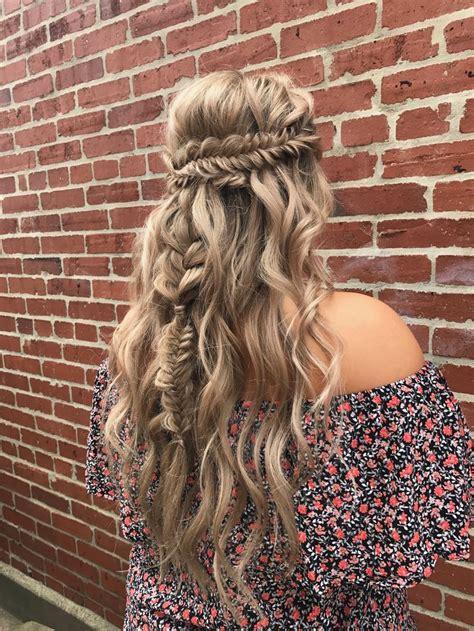 braided wedding hair fishtail boho bohemian braid