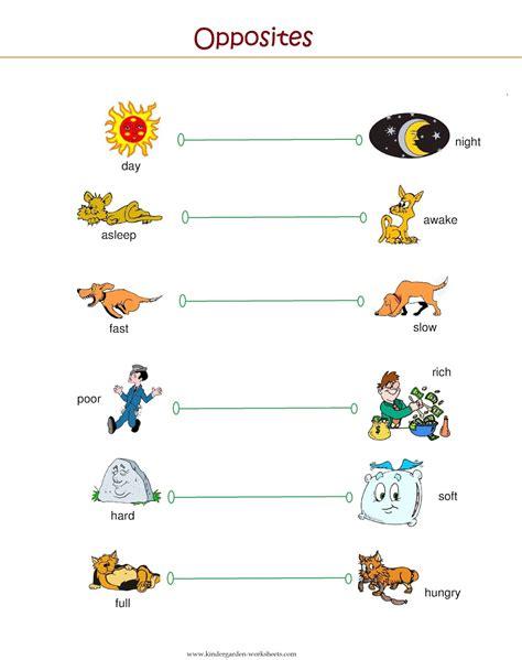printable worksheets opposites kindergarten printable opposite worksheets for kindergarten opposites