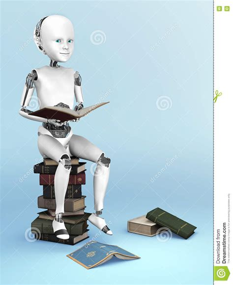 robot reading robot reading how to master your attention and focus your reading speed remember more learn faster and get more done in less time books 3d rendering of a robot child sitting on a pile of books