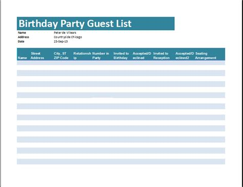 guest list template word doc 707859 guest list template word excel formats