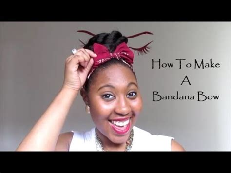 how to make a bandana how to make a bandana bow