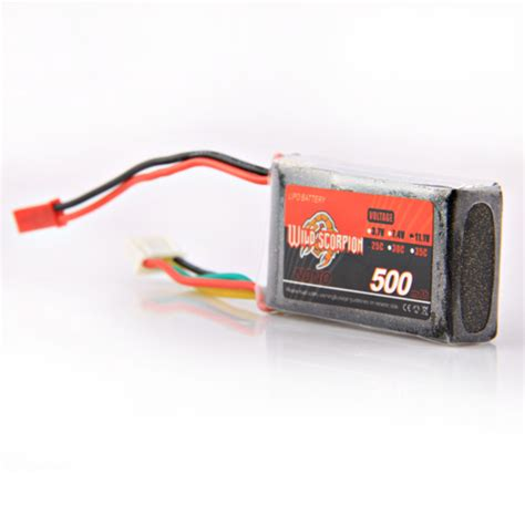 Lipo Battery 3s 11 1v 500mah 45c Jst Xt60 Zop Power For Micro sn hobbies scorpion 3s 11 1v 500mah 35c lipo battery jst