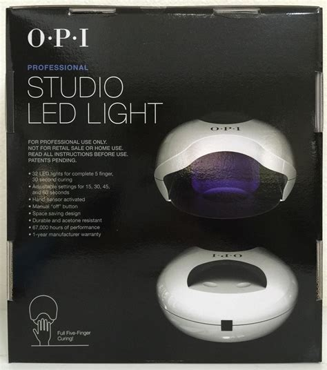 opi led light l opi studio led light l gl900 cures gelcolor nail gel