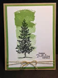 Lovely as a tree work of art masculine card birthday card stampin
