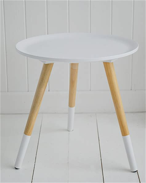 small white table l small white wooden side table with tripod legs
