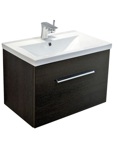 Slimline Wall Hung Vanity Unit by Wood Slimline 60cm Wall Hung Vanity Unit