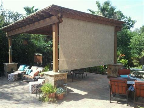 roll shade pergola patio neat idea in lieu of mosquito