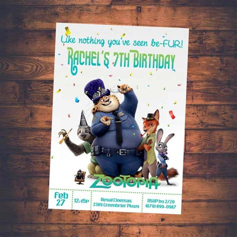 printable zootopia invitations zootopia invitation zootopia movie invitation zootopia