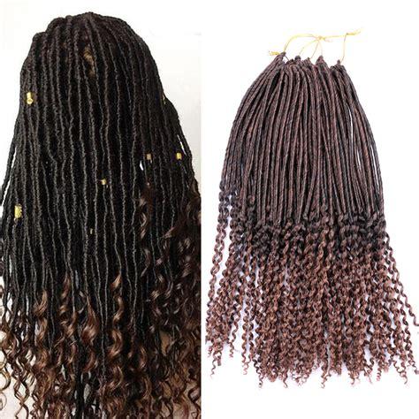 dreadlock australia 1pcs faux locs curly ends dreadlock crochet braids