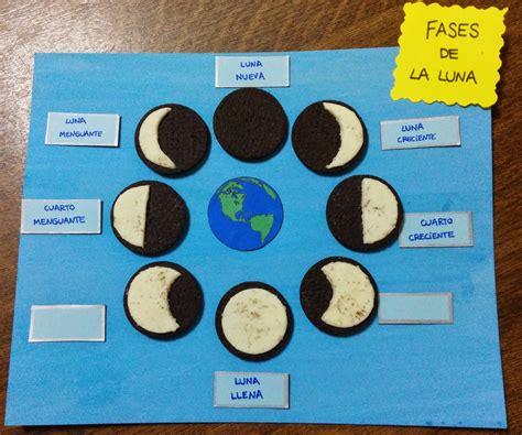 fases de la luna maqueta club de ideas las fases lunares con galletas oreo la
