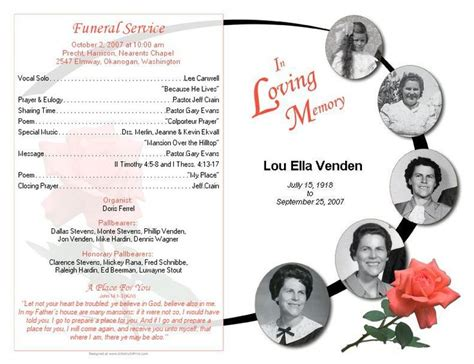 lds funeral program template the world s catalog of ideas