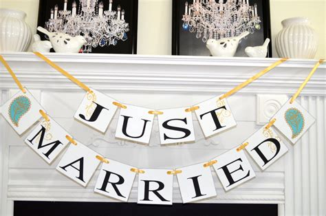 Wedding Car Banners by Just Married Banner Paisley Print Wedding Car Decoration