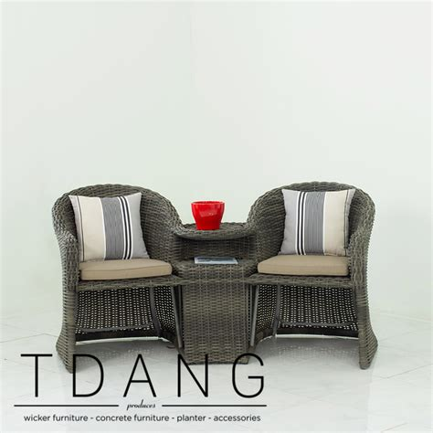 loveseat rattan martinique wicker loveseat with ottoman tdang
