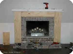 easy fireplace makeover keep home simple fabulous fireplace makeover