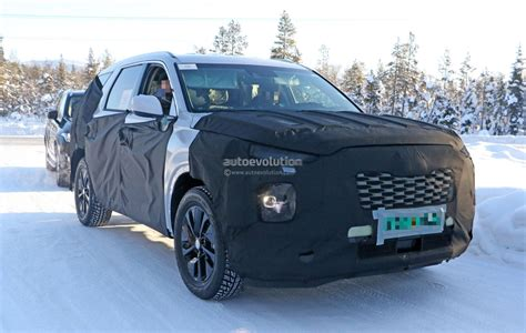 Volvo Suv 2020 by 2020 Hyundai Eight Seat Large Suv Spied Benchmarking