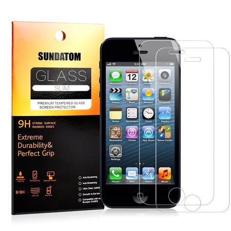 Anti Glare Tempered Glass For I Phone 5 6 6 Plus sundatom tempered glass screen protector for iphone5 iphone se 5 5c 5s 5se hd clear glossy