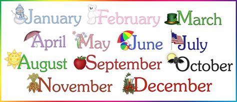 Month Of The Calendar Calendar Months Word 3 95 Dainty Doodles