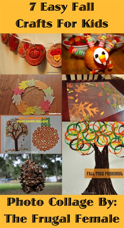 easy fall craft for fall activities for kindergarteners crafts