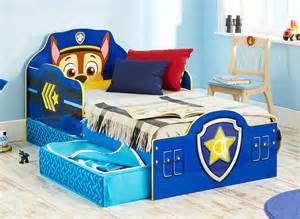 Toddler Beds Storage Paw Patrol Toddler Bed With Storage Dreams