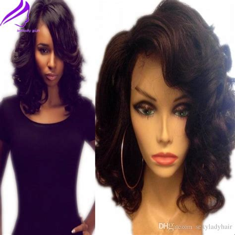 hairstyles using kanubia brazilian natural body with bangs fantasy wavy bob short wig wholeasle brazilian hair