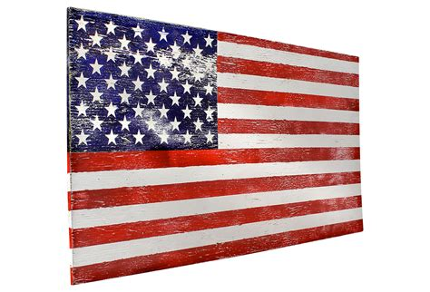 American Flag Wall Decor by Rustic American Flag Wall Decor Large From One