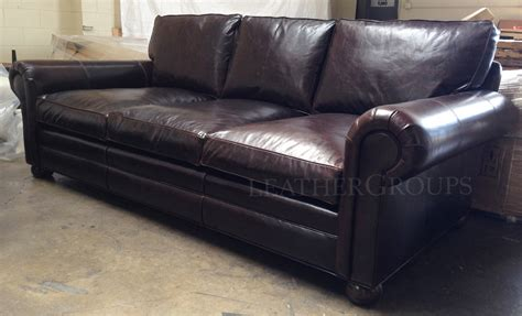 Brompton Leather Sofa 96 Langston Leather Sofa In Brompton Cocoa Mocha The Leather Furniture At Leathergroups