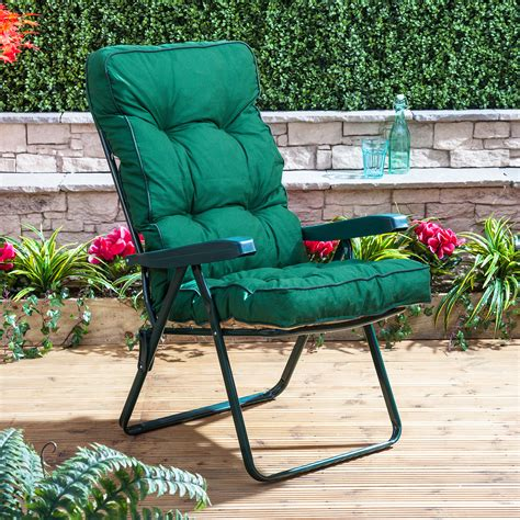 garden recliner chair cushions alfresia luxury garden recliner chair cushion ebay
