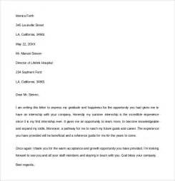 sle internship thank you letter 9 free documents in