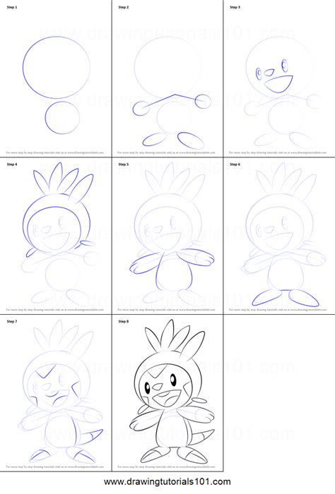 how to draw chespin from printable step by step