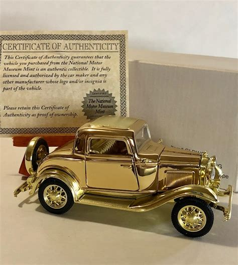 Gold Plated Cars For Sale by 24k Gold Plated National Motor Museum Antique Car