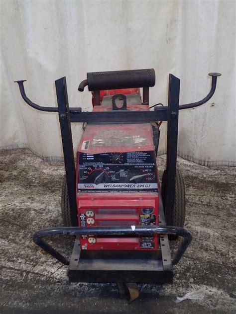 portable lincoln welder lincoln electric weldanpower 225g7 portable welder 225