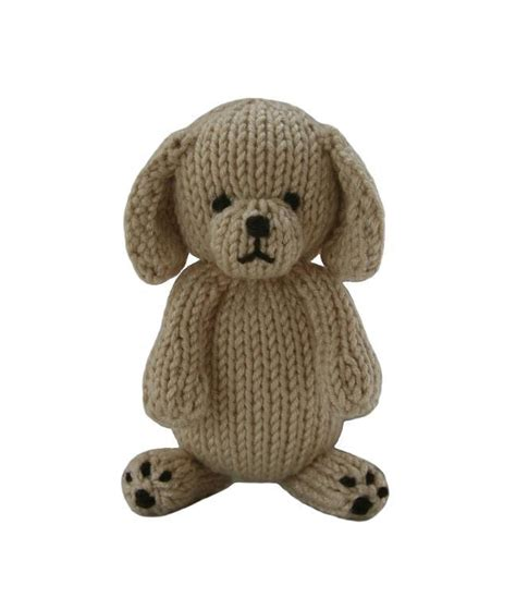how to knit a puppy puppy by knitables knitting pattern