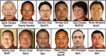 cabinet ministers announced bhutan news service