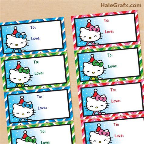 free printable christmas hello kitty gift tags arts