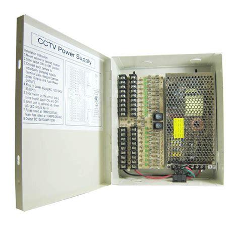 Box Power Ca 18 18 Port Cctv Power Supply Box 15 Pb12a18d3 The Home Depot